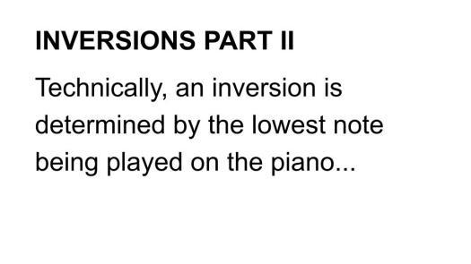Inversions Part II Def