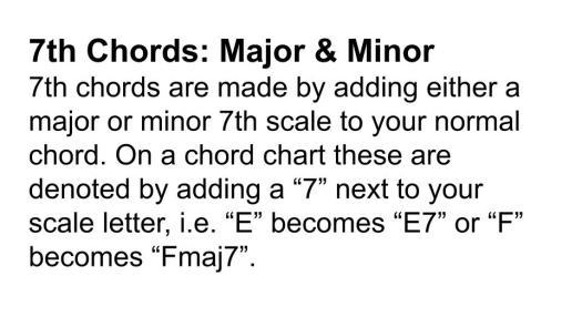 7th chords majmin